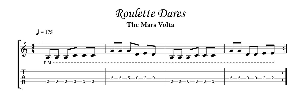 Roulette dares mars volta tab
